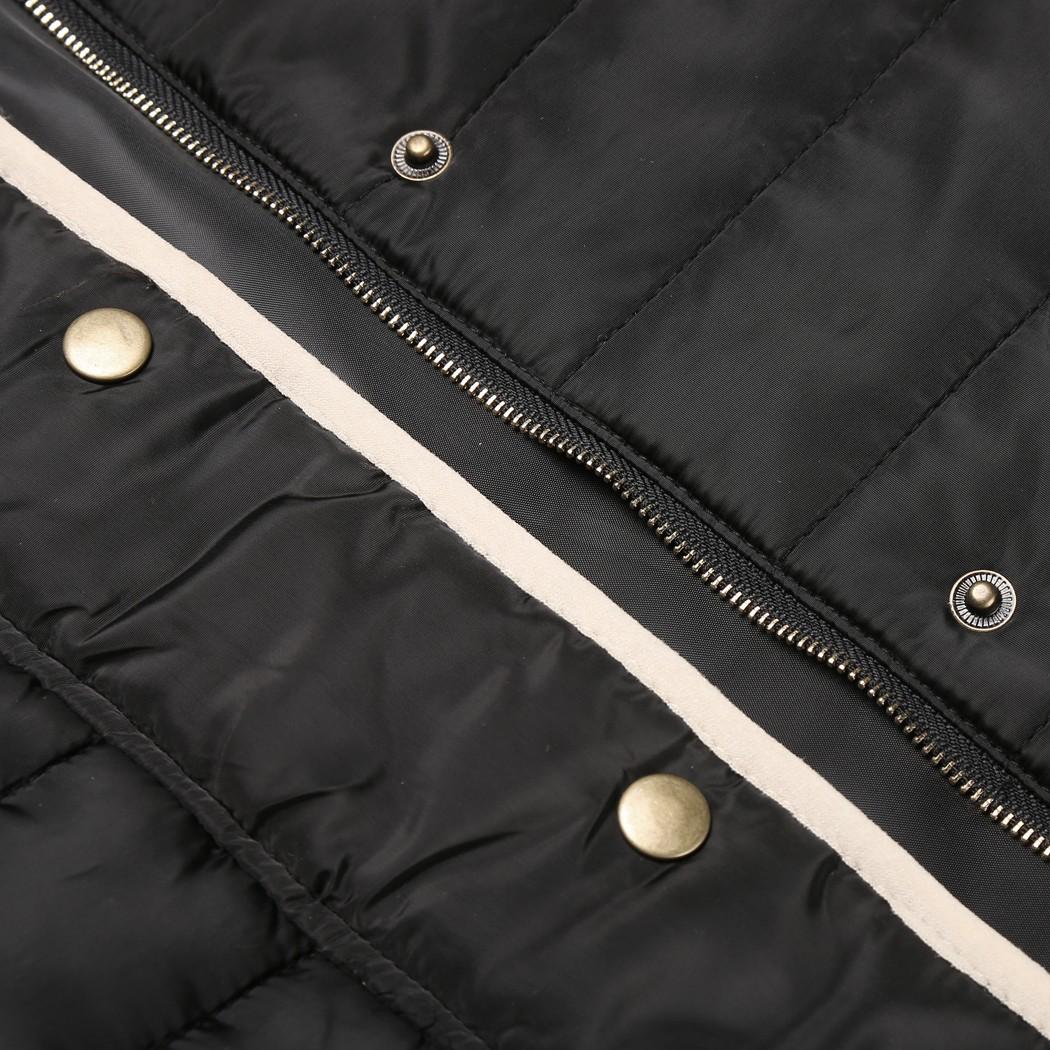 Скидки на Alishebuy Женщины Зимняя Мода Стенд Воротник Длинным Рукавом Ватные Почтовый до Куртка Slim Пальто И Пиджаки