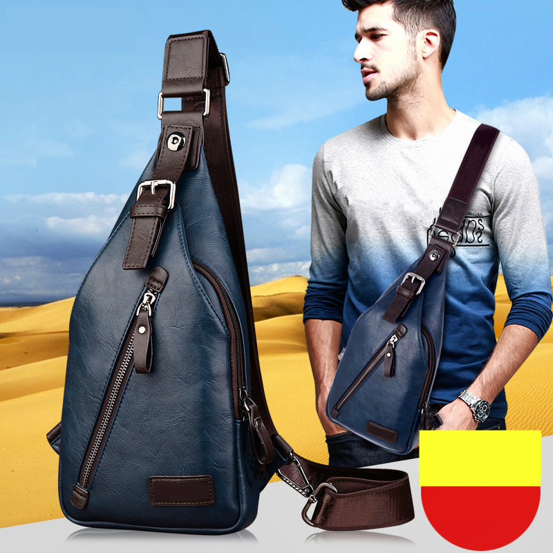 Men Summer Messenger Bag Designer Leather Chest Bag Handbag Fashion Outdoor Travel Shoulder Bag Casual Mini Sport Bag(China (Mainland))