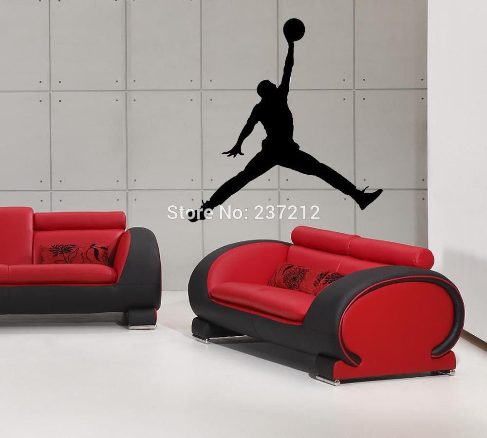 free jordan stickers submited images new air jordan basketball wall sticker jumpman decal