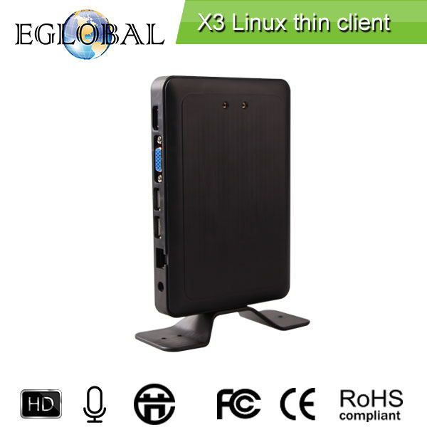 Embedded Linux Web Thin Client X3 Mini PC Dual Core 1.5GHz 1GB RAM 4GB Flash PC Station HDMI Unlimited Users Workstation RDP 7.1(China (Mainland))