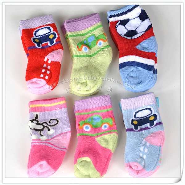 Multicolor baby thick loop pile socks newborn socks loop pile baby socks 0 - 6 baby