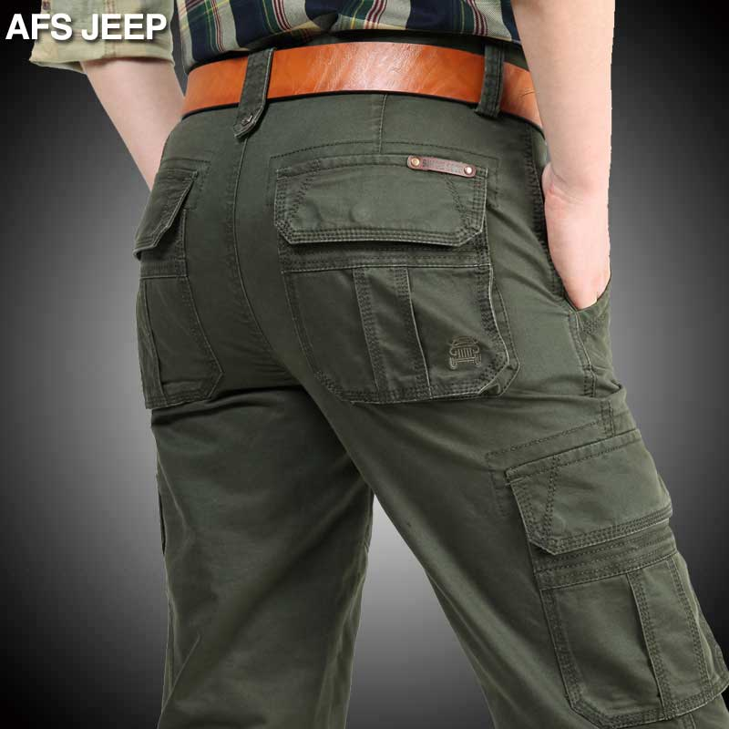 2015 Brand New Mens Military Cargo Pants multi-pockets baggy men Pants Leisure Trousers Outdoors Overalls Army Pants Big   2155