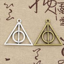 Buy 99Cents 4pcs Charms Deathly Hallows 32mm Antique charms,pendant fit,Vintage Tibetan Silver Bronze,DIY bracelet necklace for $1.00 in AliExpress store
