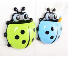 Cute Ladybug Cartoon Sucker Toothbrush Holder suction hooks / Household Items / toothbrush rack / bathroom set Ma(China (Mainland))