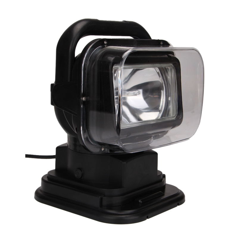 55W 12V 7'' hid remote controller spotlight hid searchlight wire less search light for boat marine 4x4 off road use BLACK 24V