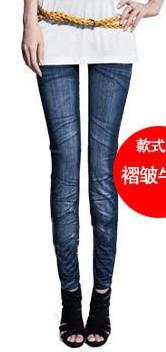 Hot Sale Fashion Style Thin Wild Snow Denim Jeans Leggings Ladies Pencil Pants Nine Legging Female