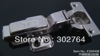 40PCS concealed hydraulic furniture ,stainless steel 304 cabinet hinge,clip  half overlay hardware