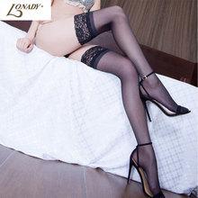 2016 Sexy Stockings Medias Knee Socks Women Thigh Highs Medias Stocking Female Pantyhose Lace Top Knee High Lingerie Long Socks(China (Mainland))