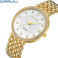 New arrivals CRRJU Women Watches famous Brand Luxury Casual Quartz Watch female Ladies Rhinestone Wristwatches relogio