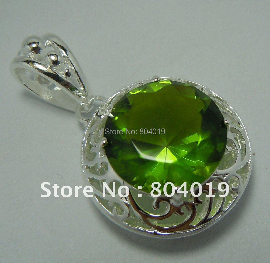 The vogue of freight from 925 jewelry/wholesale and retail processing customized 925 silver topaz pendant(China (Mainland))