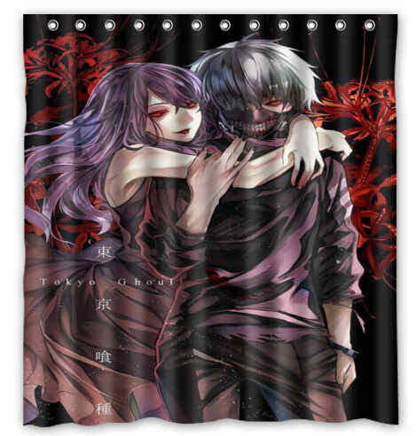 New Arrival The Japanese anime gintama Waterproof Shower Curtain 60 x 72 Inches for Bathroom with plastic12 Hooks
