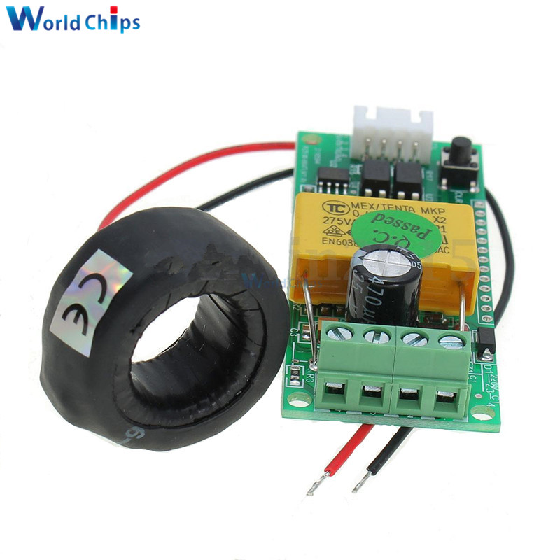 AC Digital Multifunction Meter Watt Power Volt Amp TTL Current Test Module PZEM-004T With Coil 0-100A 80-260V AC For Arduino(China (Mainland))