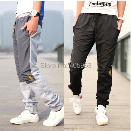 2015 Mens Joggers Outdoors Sports Training Pants Fashion Pants Embroidered Sweatpants Men Jogger Pants Trousers