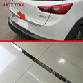 Chrome Rear Trunk Tailgate Trim Cover For Mazda CX 3 2016 2017 Stainless Steel Accessories Molding