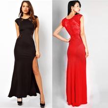 2014 HOT SALE Women Summer Fashion Party Star Short Sleeve Sexy Black Long Novelty Dress Woman Plus Size Wholesale(China (Mainland))