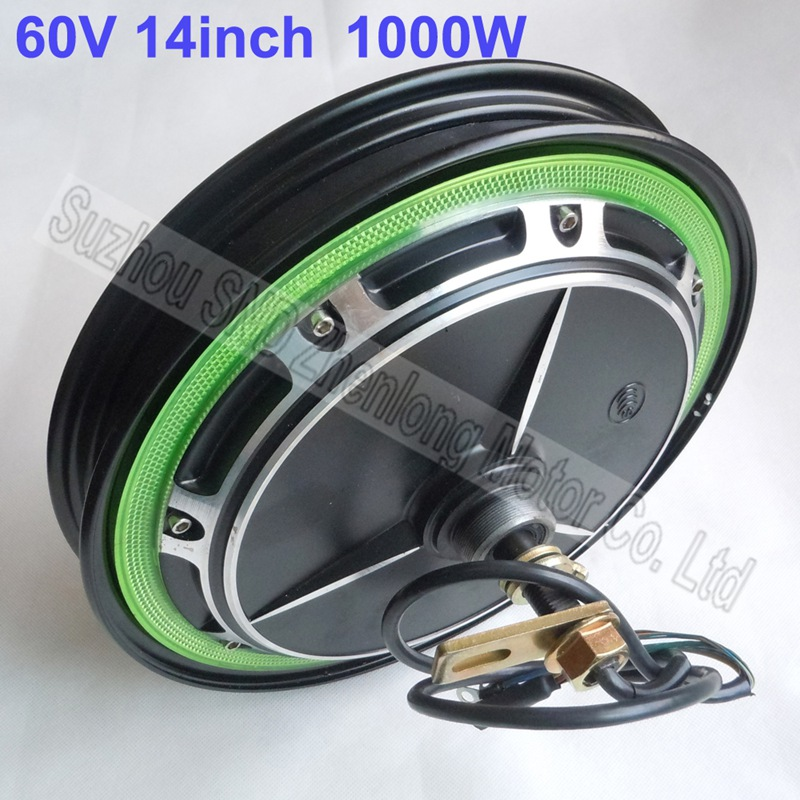 Customized 14 Inch E Bike Motor 48v 1000watt High Speed