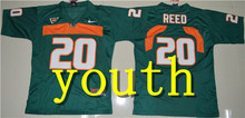 Nike 2017 Youth Miami Hurricanes Ed Reed 20 College Boxing Jersey - White Size S,M,L,XLSean Taylor 26 Ray Lewis 52(China)