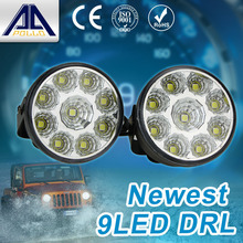 2pcs x 9 LED Car head Front Round Fog Tail light