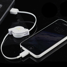2015 Hot Sale! Retractable 8 Pin to USB Charging Data Cable for iPhone 5 5c 5s 6 Plus iPad iPod for IOS7 IOS8