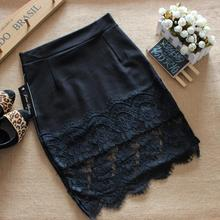Buy 2017 women summer midi skirts lace stitching step skirt sexy slim package hip mini skirt high waist body womens pencil skirt for $9.42 in AliExpress store