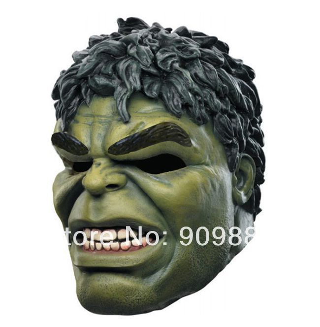 Freeshipping Brand New High Quality Head rubber latex mask cartoon hulk mask for carnival and party halloween(China (Mainland))