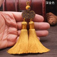 אלדין כפול משי ססגוני סריגה באריגת יד אתני בוהמי ציצית בסגנון הסיני קשר סוודרי שרשרת שרשרת תליון(China)