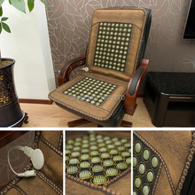 Health care orcher Boss chair cushion cover Jade heating mattress germanium stone cushion cervical spine benefits office workers(China (Mainland))
