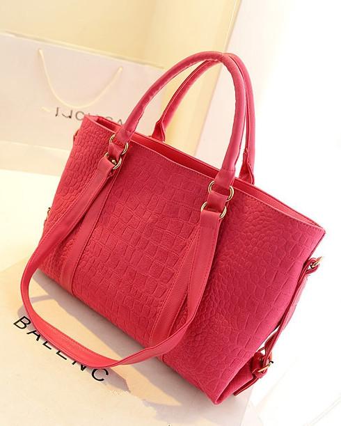 Women Brand Snake Skin Designer Shoulder Bag Ladies Free Shipping Crocodile Pattern Handbag Fashion High Quality PU Leather Tote(China (Mainland))