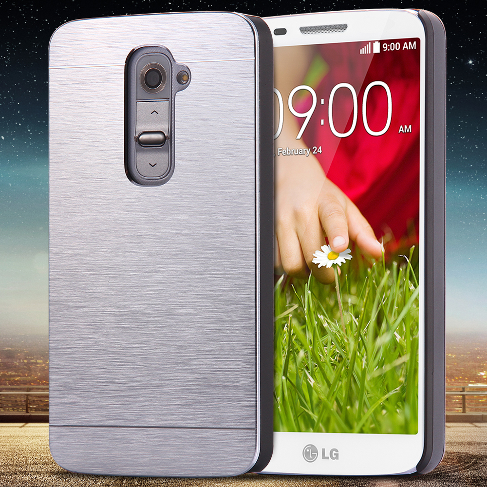 For LG G2 Aluminum Cover Fashion Slim Hard Metal Plastic Phone Case For LG Optimus G2 D802 D805 D801 D800 D803 LS980 With Logo(China (Mainland))