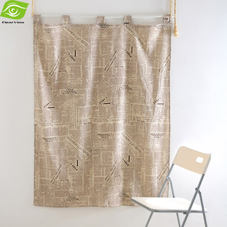 Retro English Letters Cloth Mosquito Door Curtain Home Decoration Curtains For Living Room 140*80CM