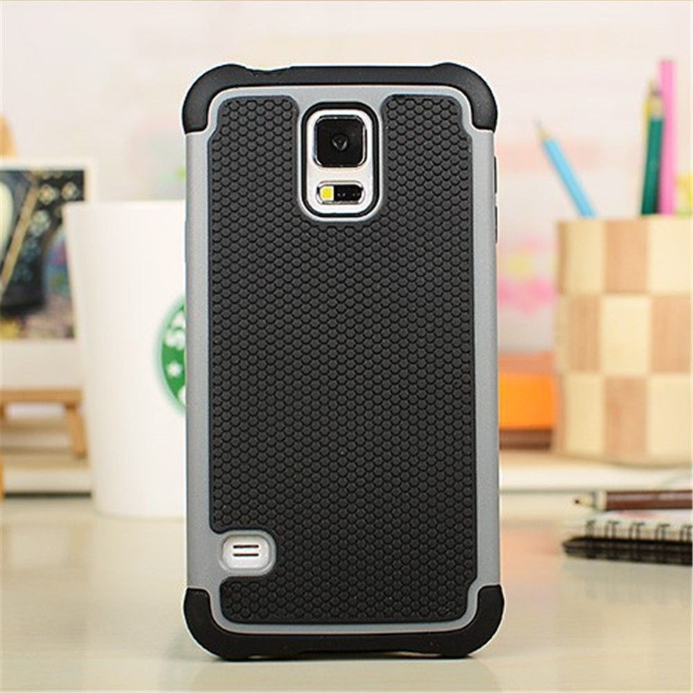 S5 Neo Ballistic Plastic Shockproof Case Silicone Skin Cover For Samsung Galaxy S5 Neo G903F