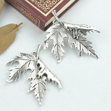 Buy 4pcs alloy Tibetan Silver Plated tree leaf Charms Pendants Jewelry Making DIY Handmade Craft 55*47mm 2187 for $1.47 in AliExpress store