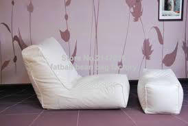 white bean bag sofa set with stool rest - living room waterproof beanbag home furniture set(China (Mainland))