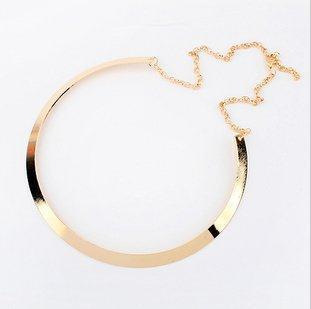 Promotions New High quality Gold plated Fashion Simple Metal bib necklace statement jewelry for women 2014
