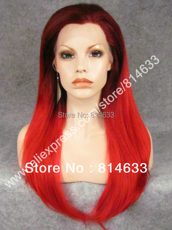 DHL Free 24 #33/3100 Silky Straight Synthetic Lace Front Heavy Density Fashion Lady Party Wig S02<br><br>Aliexpress
