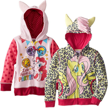 Autumn Girl children zipper hooded outwear children outerwear kids long sleeve hoody kid clothing  (China (Mainland))