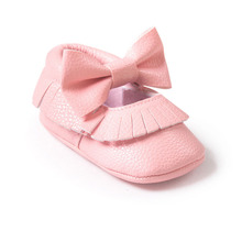 Baby Girls Mary Jane Flower Baby Shoes PU Leather Baby Moccasins Gold Bow Girls First Walker Toddler Moccs(China (Mainland))