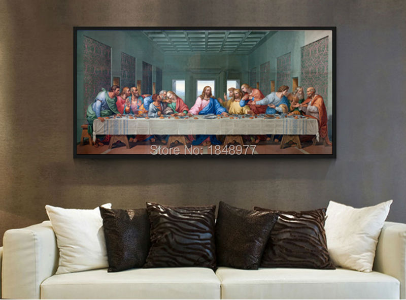 Large Classic Oil Painting Picture Famous Painting The Last Supper Leonardo Da Vinci Oil Painting On Canvas For Living Rooom(China (Mainland))