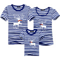 Striped Christmas Shirts Matching Family Clothes 2016 T shirt Sport T Shirt Cotton Boy Tshirt Poleras