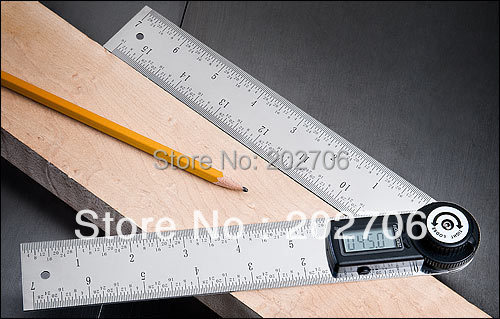 2 in 1 Digital protractor angle finder meter Ruler 400mm 360 degree(China (Mainland))
