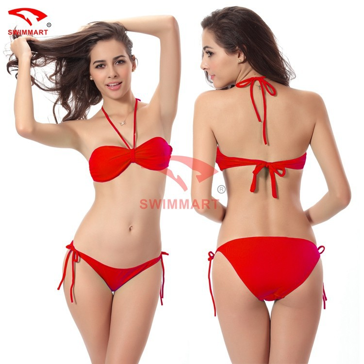 2015 New Sexy Women's Bikinis Set Lady Swimwear Beach Swimsuit Padded Top & Bottom Push-Up Underwears Summer Gift Free Shipping(China (Mainland))