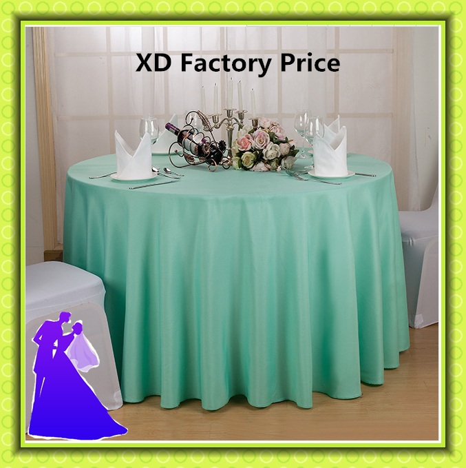 "Free shipping hot selling polyester round table cloth for wedding decoration 70""(China (Mainland))"
