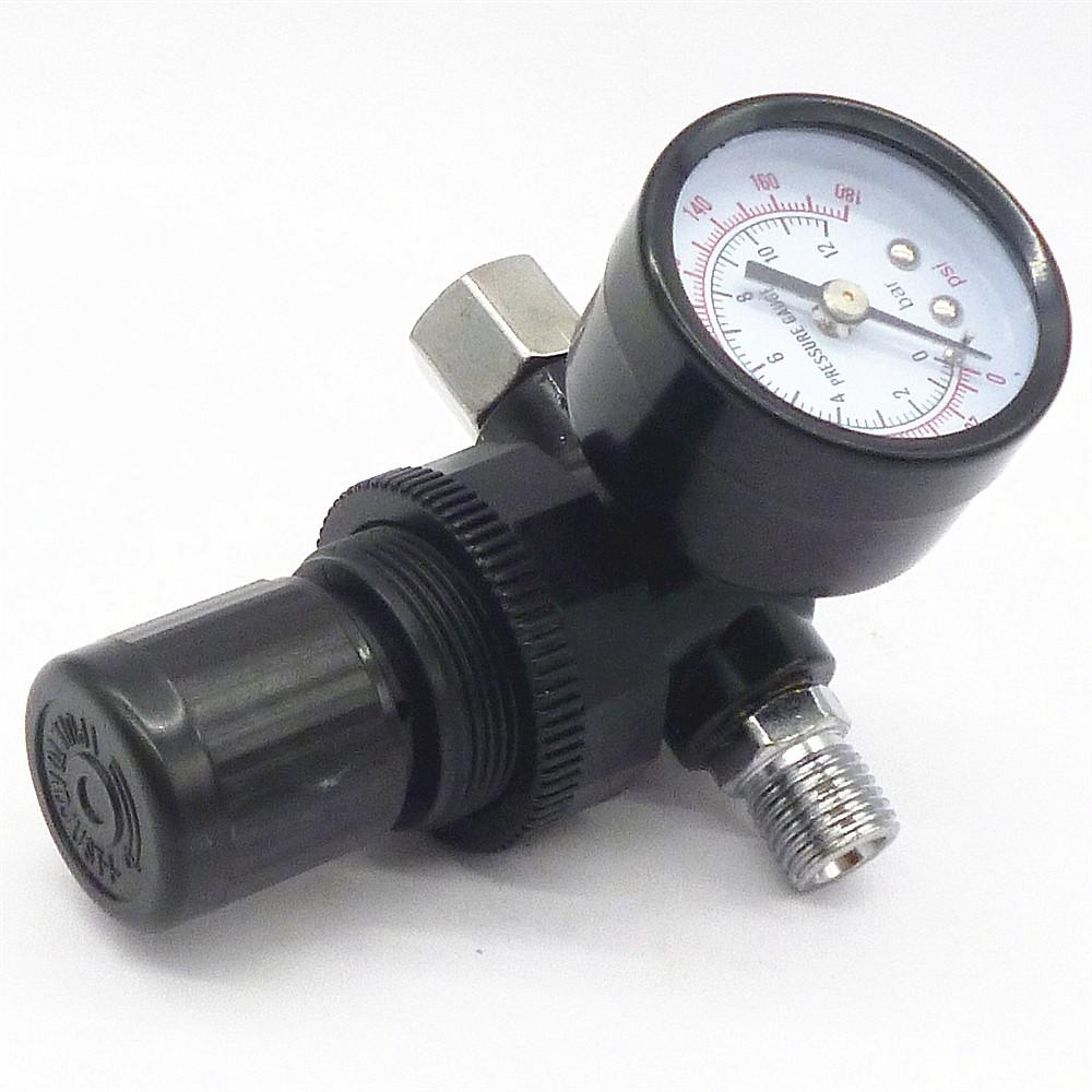 Wholesale Air Compressor Pressure Switch Control Valve Manifold Value R22 Single Gauge Accurate Regulator Gauges Hvlp Spray Gun Tool W