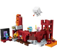 LELE/BELA My world Minecraft 589PCS The Nether Fortress Building Blocks DIY Assemble Figure Enlighten Bricks Toys axi