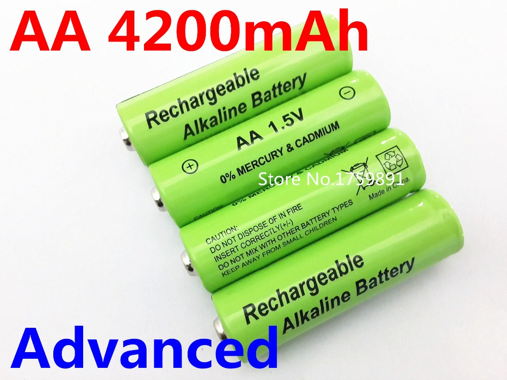 4 aa 4200 mah alkaline rechargeable battery toy game machine remote control led flashlight. Black Bedroom Furniture Sets. Home Design Ideas