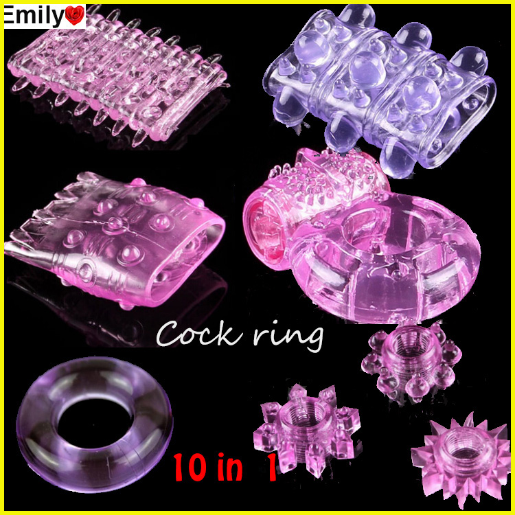 10 Different Penis Rings,Vibrating Rings,Cock Rings,Sex ring,Sex Toy,Sex products,Adult toy 10pcs/lot