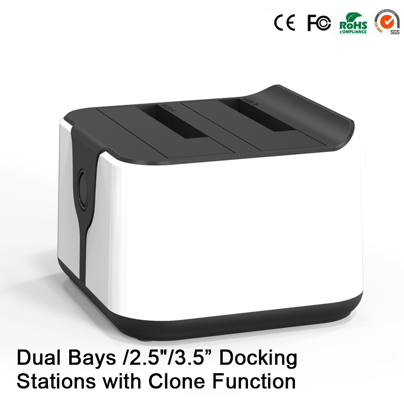 "2-Bay Dual SATA 2.5""/3.5"" Hdd Docking Station USB 3.0 to SATA HDD Duplicator High Speed 5Gbps Duplicator Support 6TB(China (Mainland))"