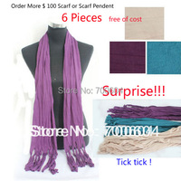 solid pashmina long scarves belts jewelry jewsey ladies girls women fall necklace  jewelry pendant Charm scarf,3 colors