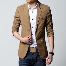 2015 New Arrive Blazer Msculino Slim Fit Solid Black Long Sleeve Button Big Size Mens Blazers M-6XL Fashion Casual Traje Hombre(China (Mainland))