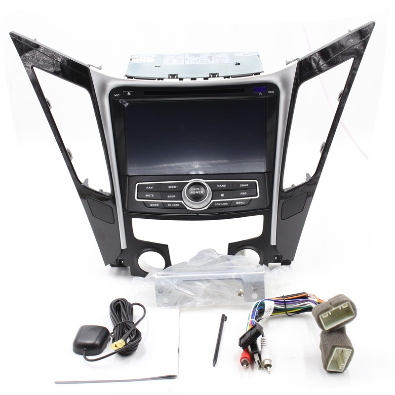 Free Shipping Car DVD For Hyundai I45 Sonata 2011 2012 2013 2014 with Bluetooth RDS AM FM GPS Steering wheel control